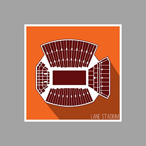 Virginia Tech Hokies - Lane Stadium - College Football Seating Map - 18x18 Matte Poster Print Wall Art by ArtsyCanvas