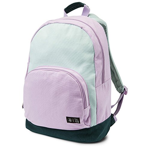 Volcom Junior's School Yard Canvas Backpack, light blue, One Size Fits All (Girls Volcom Backpack)