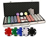 Da Vinci 500 Poker Set with Chips, Case, Dealer Buttons, Cards, Cut Cards, and Dice