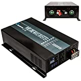 Reliable 3000W High Efficiency Pure Sine Wave Solar Power Inverter 12V 120V 60Hz Power Converter LED Display