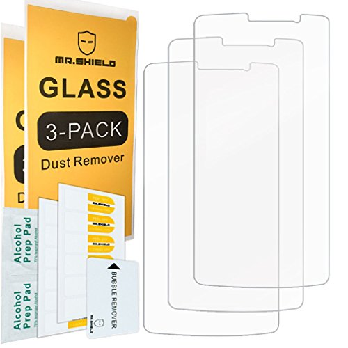 - [3-PACK]- Mr Shield For ZTE MAX XL [Tempered Glass] Screen Protector [Japan Glass With 9H Hardness] with Lifetime Replacement Warranty