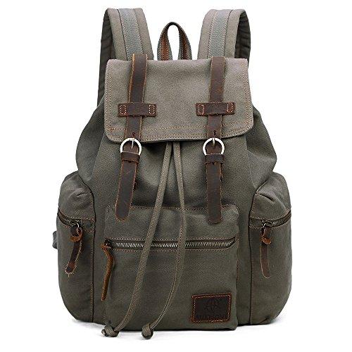 Vintage Canvas Backpack Outdoor Rucksack