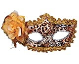 KINGSEVEN Masquerade Mask for Women ,Girls ,Ladies (Leopard print)