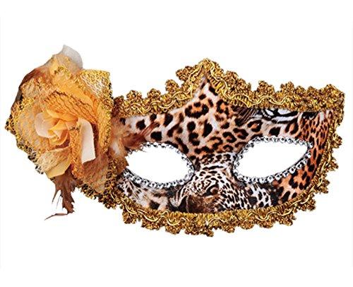 KINGSEVEN Masquerade Mask for Women ,Girls ,Ladies (Leopard (Leopard Masks)