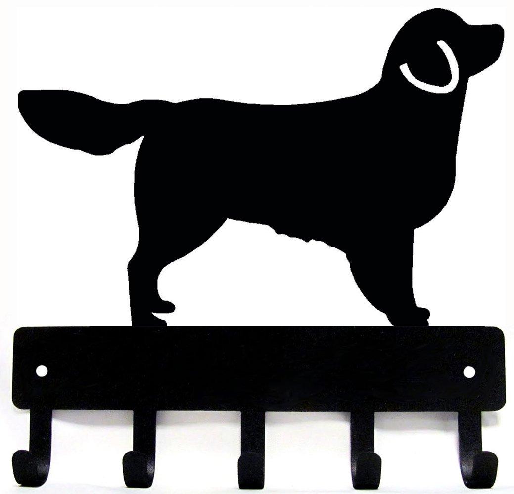Golden Retriever Key Rack & Dog Leash Hanger - Large 9 inch