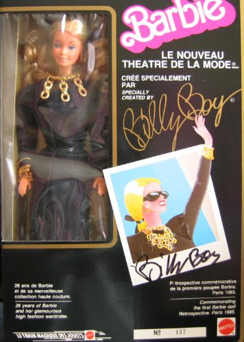 Barbie Le Nouveau Theatre De La Mode Doll BILLY BOY Signed #157 w Signed Cover & Signed Booklet (1985 Mattel - Signed France