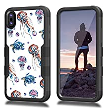 iPhone 8 Case, CASECREATOR[TM] For Apple iPhone 8 (All Carrier)~NATURAL TUFF Hybrid Case BB-Watercolor Jelly