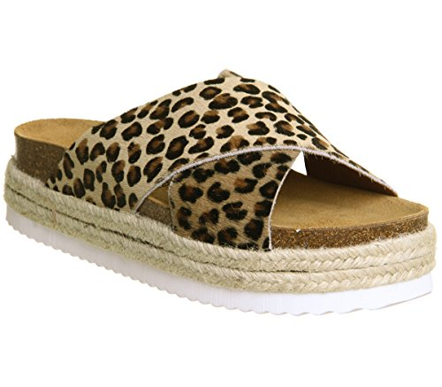 Leopard Office Strap Cross Footbed Mexico wSqHSIB