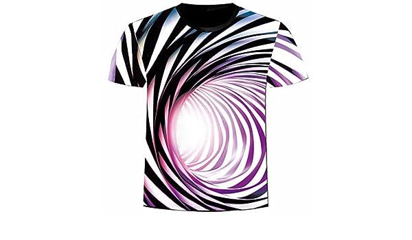 Hombre camiseta T-shirt manga corta,Sonnena ❤ Chaleco estampado tridimensional para hombre 3D Formula Camisa informal de manga corta Blusa superior: ...