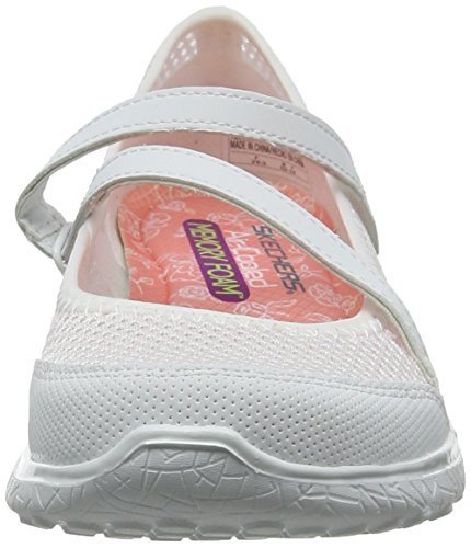 Merceditas Mujer Microburst white Para Blanco Skechers TwRqfxw