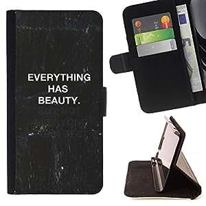 For HTC Desire 626 626w 626d 626g 626G dual sim Case , Cita pizarra Negro Blanco Texto- la tarjeta de Crédito Slots PU Funda de cuero Monedero caso cubierta de piel