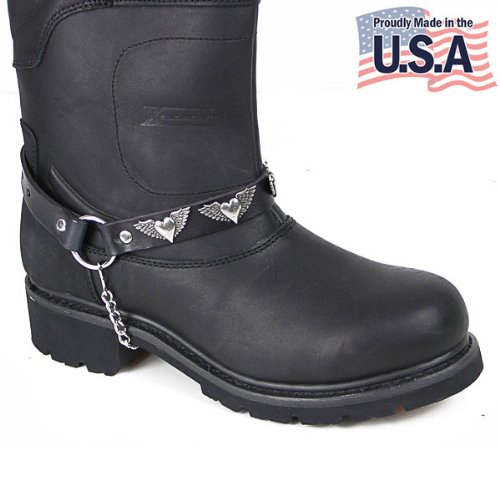Motorcycle Winged Heart Boot Chain