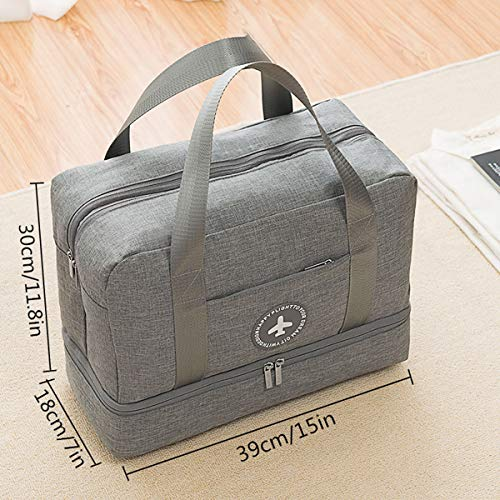 Vaincre Swim Bag, Dry Wet Area & Shoe Compartment Separated Waterproof Duffle Bag for Gym, Pool, Beach by Vaincre (Image #1)