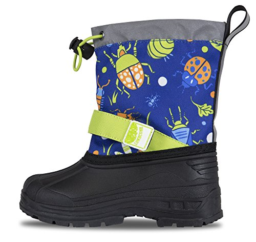 Lone Cone - Lone Cone Kids' Waterproof Insulated Snow Boots, Bugs, 8 M US Toddler
