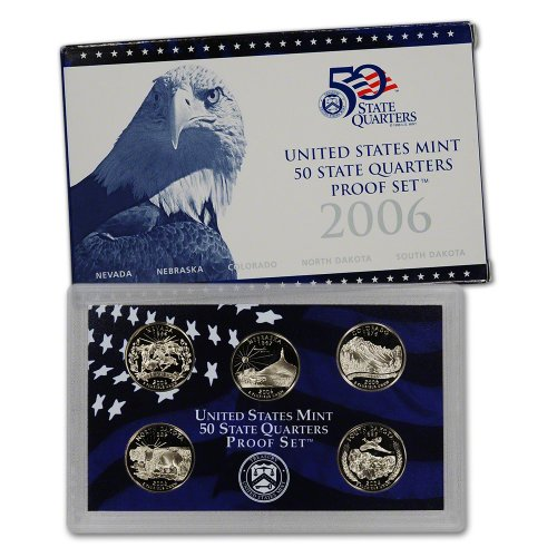2006 S US Mint Quarters Proof Set Original Government Packaging (1999 Us Mint Quarter)