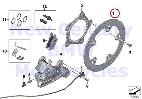 BMW Genuine Motorcycle Rear Wheel Brake Rear Brake Disc R nine T R1200GS R1200GS Adventure HP2 Enduro HP2 Megamoto R1200RT R900RT R1200R R1200ST HP2 Sport R1200S K1200S K1300S K1200R K1200R Sport K13 by BMW (Image #1)