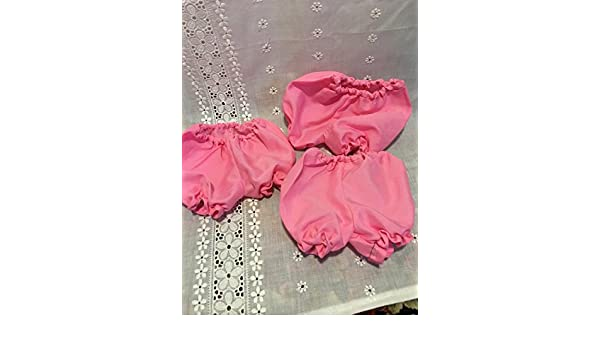 Fits 15 16 18 Cabbage Patch Kids Doll Clothes Pink Panties Bloomers Underwear Lot of 3 pcs Handmade
