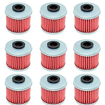 Fincos for Honda XL125 V Varadero 2001-2004 2005 2006 2007 2008 2009 2010 2011 2012 2013 2014 CBF250 2004-2006 Motorcycle Oil Filter - (Color: 4 PC)