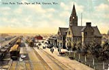 Cheyenne Wyoming Union Pacific Tracks Depot Park Antique Postcard K46799 offers