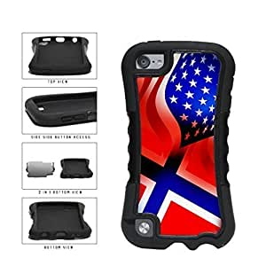 Norway and USA Mixed Flag 2-Piece Dual Layer Phone Case Back For SamSung Note 4 Case Cover Generation
