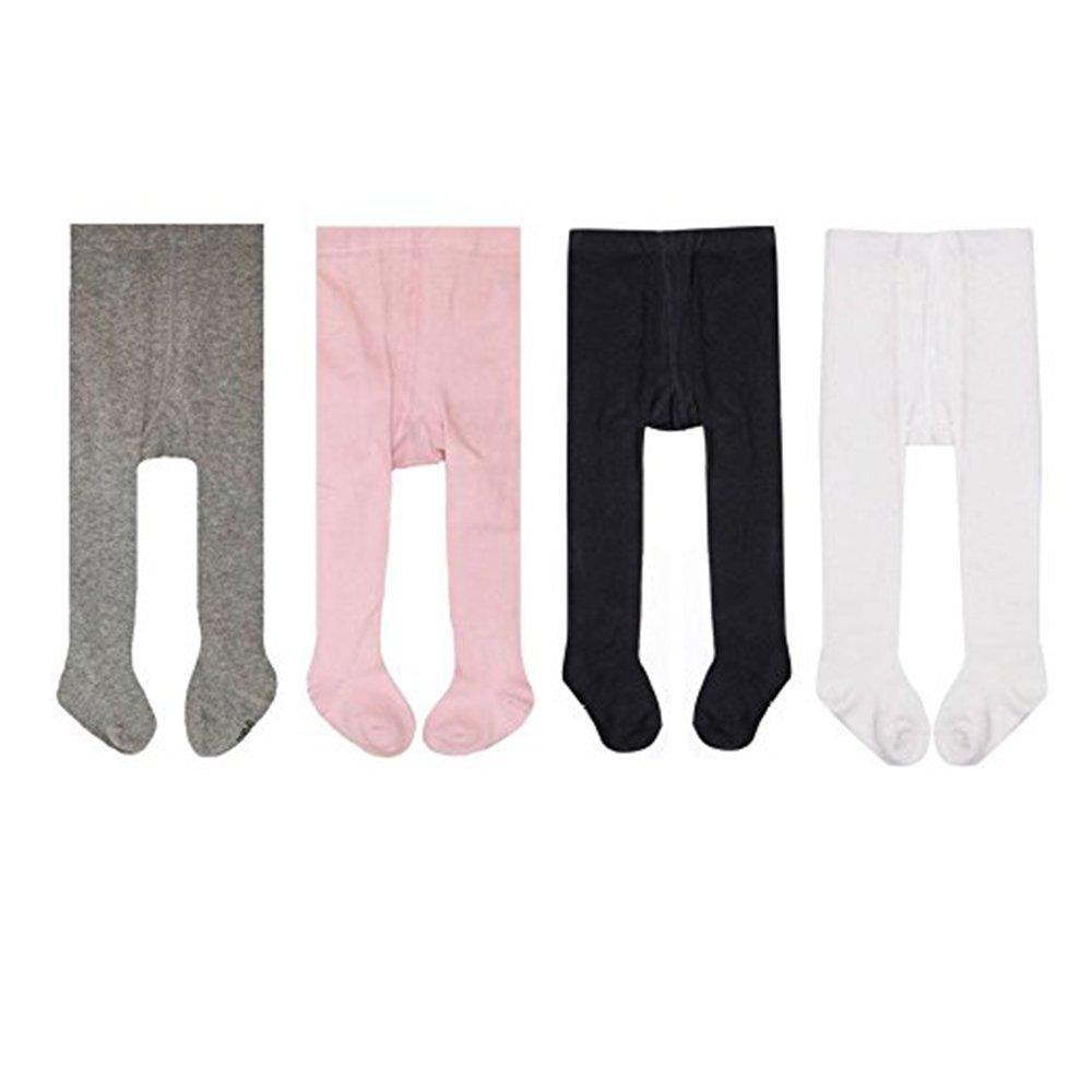 Tianou 4pc/lot calzamaglia dei calzamaglia dei capretti dei calzamaglia del cotone delle ragazze delle neonate