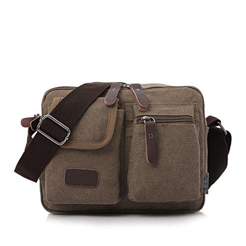 Spalla Ipad Canvas Messenger Bag Uomo Borsa Di Lavoro Per Uomini E Donne Nero,1-OneSize