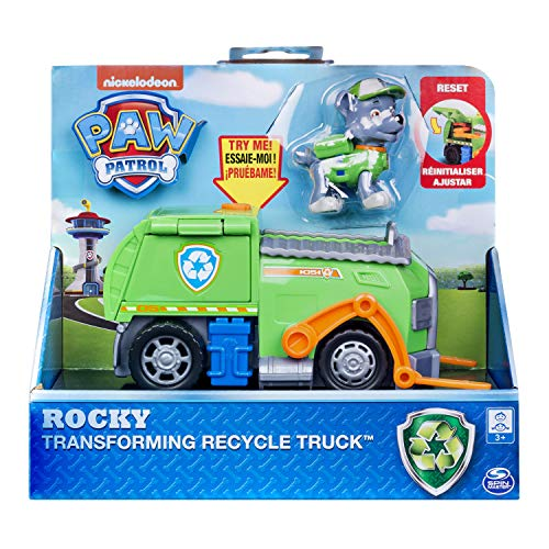 Paw Patrol, Rocky's Transforming Recycle Truck with Pop-Out Tools & Moving Forklift, for Ages 3 & Up -