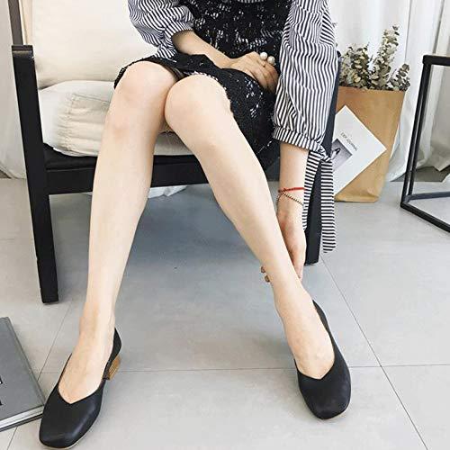 Chaussures Lger Plates Fermeture Travail Confort Vritable Janes Cuir Mary Casual Zippe De Noir Femmes HqwR5pT