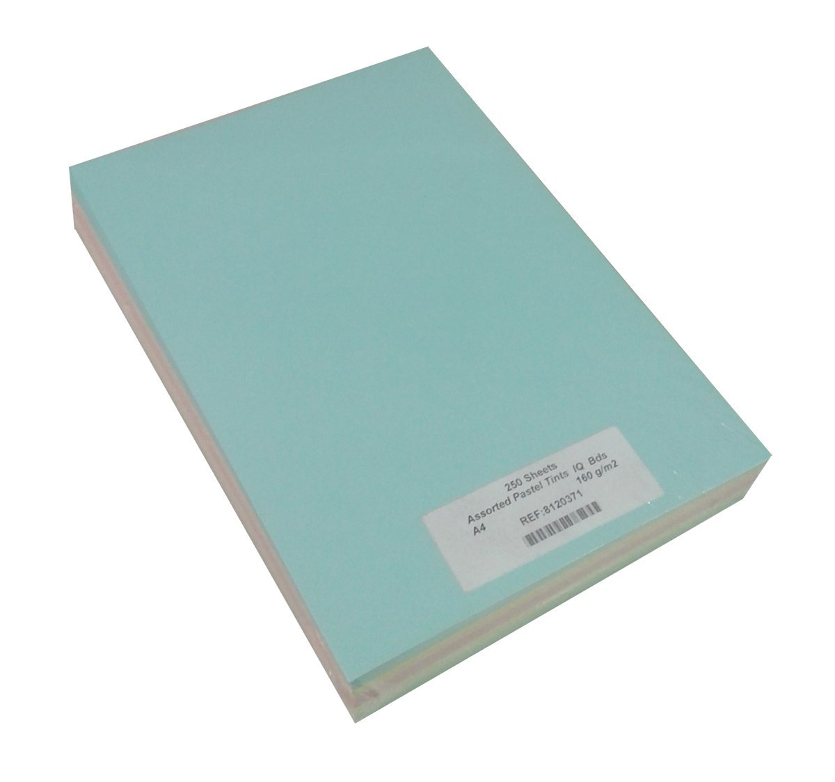 250 Sheet A4 Assorted Card Pack - Assorted Pastel Colours Grosvenor House Papers
