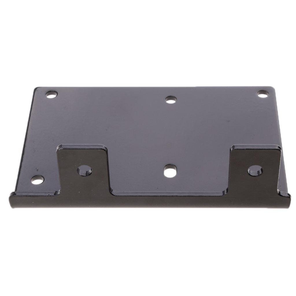 KESOTO Montageplatte f/ür Seilwinde Winde Stahlplatte Seilwindenhalterung 2000LB bis 5000LB