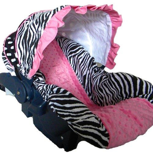 zebra car seat canopy cover - 9