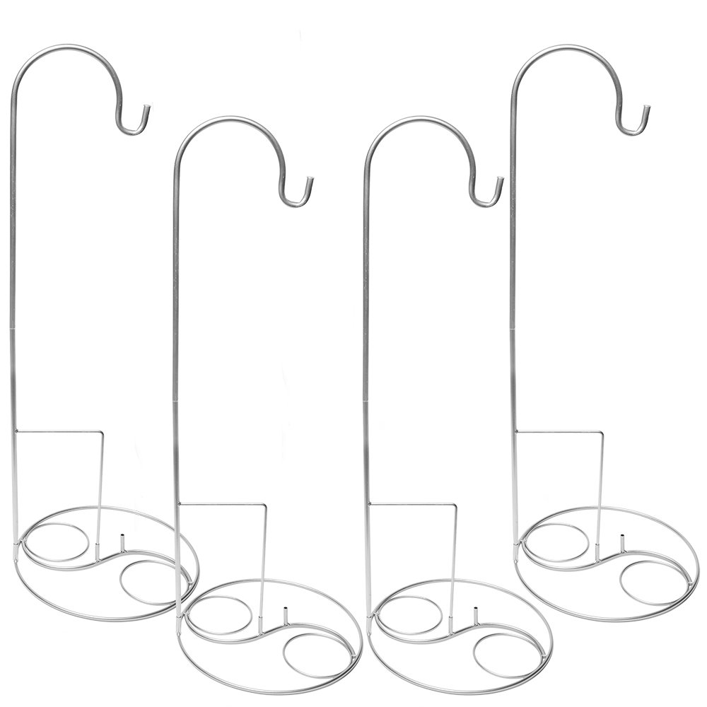 Eastland Silver Shepherd Hooks and Silver Swirl Shepherd Hook Base 36'' Set of 40 by Eastland