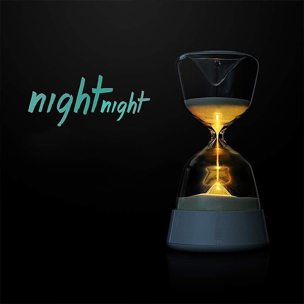LED Nachtlicht Kinder, Sanduhren Sleep-assistant LED-Lampe, 15 Minuten Timer Lampe, 4 Farben LED Nachttisch Nacht Lampe, Touch-sensor Nachtlicht