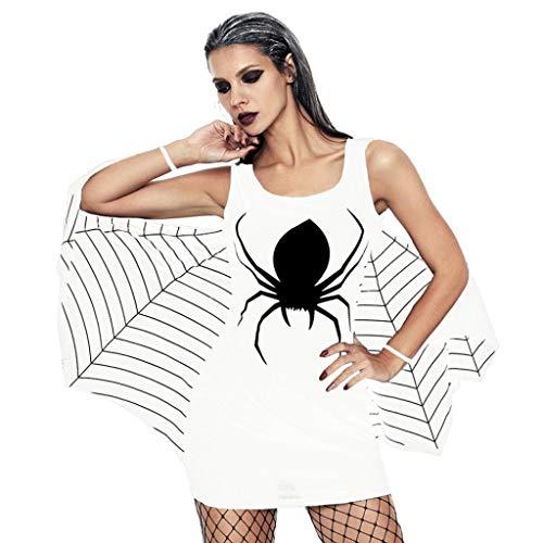 Clearance Sale! Wintialy Women's Halloween Spider Uniform Bat Sheath Brace Mini Dress (Classic Baseball Bat Bamboo)