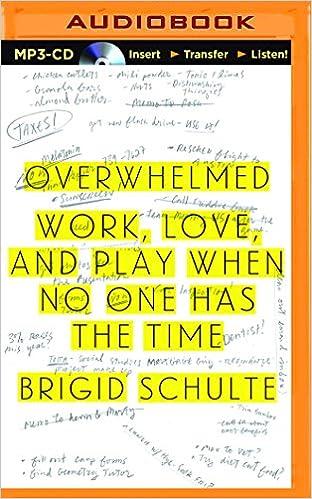Overwhelmed: Work, Love, and Play When No One Has the Time: Amazon.es: Brigid Schulte, Tavia Gilbert: Libros en idiomas extranjeros