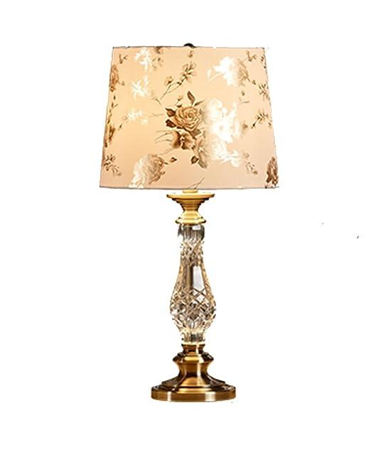 Lámparas de escritorio mesa de cristal lámpara europea de cabecera ...