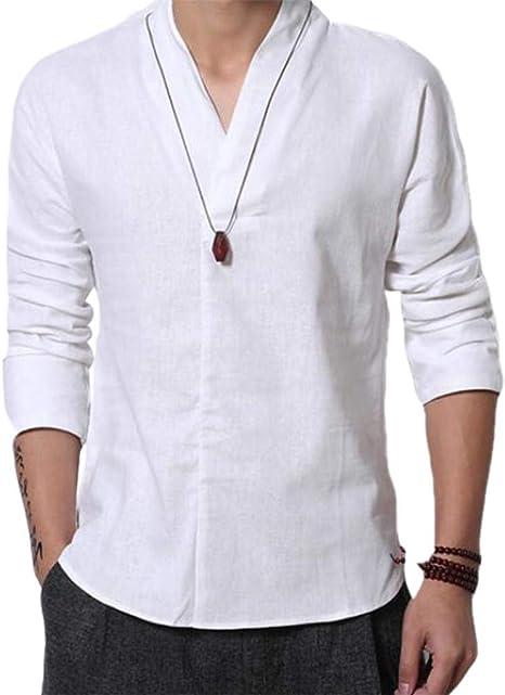 Amazon.com: Cafuny - Camiseta de manga larga para hombre ...