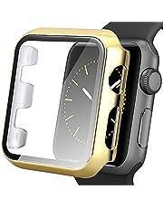 AISPORTS Compatibel voor Apple Watch Case 42mm, iWatch Series 3/2/1 Screen Protector, Ultra-Dunne Harde PC HD Clear Bumper Case Volledige dekking Overall Beschermende Case Cover voor Apple Watch Series 3/2/1