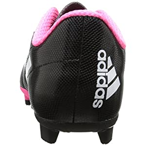 adidas Performance Conquisto Firm-Ground J Soccer Cleat ,Black/White/Solar Pink,4 M US Big Kid
