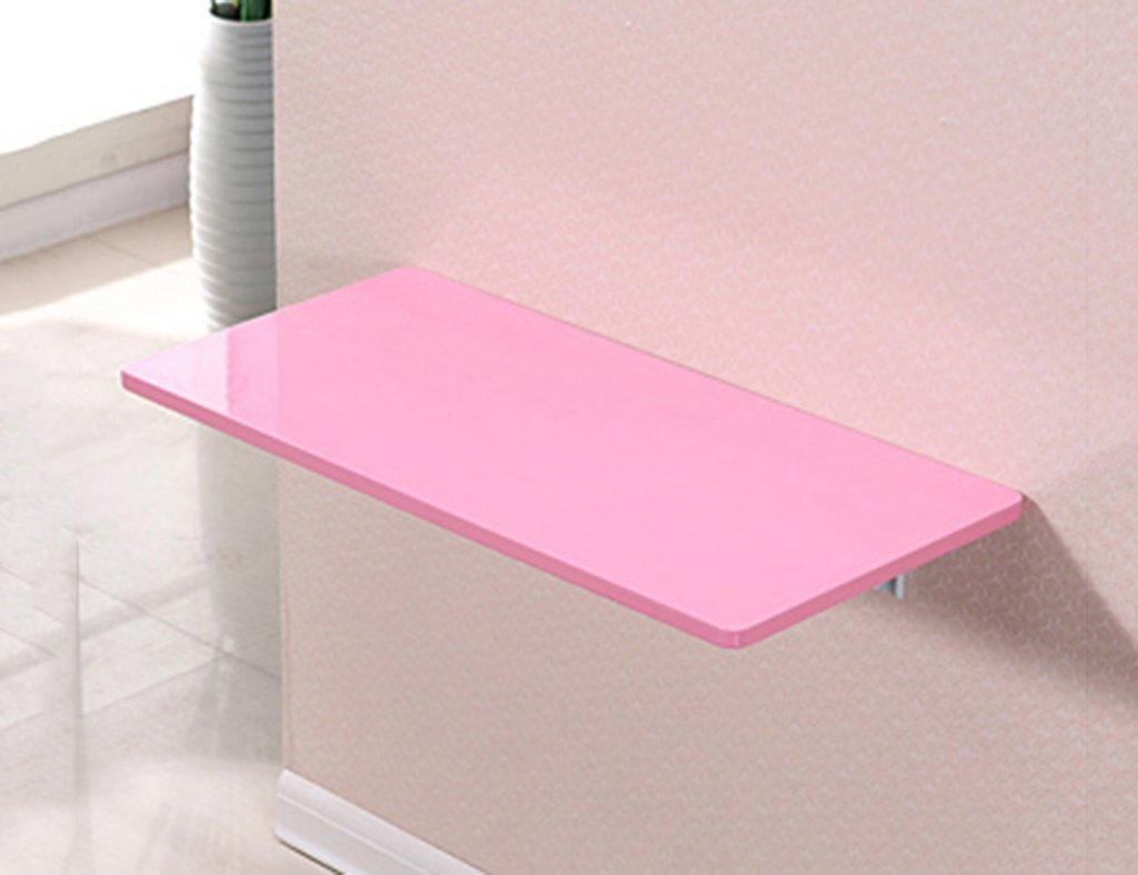 ダイニングテーブル壁掛けラップトップデスク壁掛けテーブルラーニングテーブルペイント折り畳み式コンピュータデスクカラーサイズオプション ( 色 : ピンク ぴんく , サイズ さいず : 80*40cm ) B07B7195W2 80*40cm|ピンク ぴんく ピンク ぴんく 80*40cm