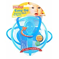 Nuby Easy Go Suction Bowl with Spoon - aqua, one size