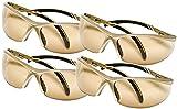 Safety Works Essential Adjustable Safety Glasses, Bronze Lenses (4 Bronze)