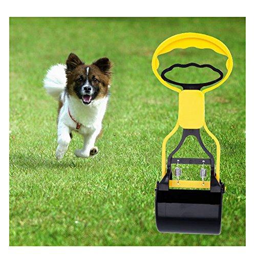 Chrome Litter Scoop - Giveme5 Animal Pet Dog Cat Pooper Scooper Small Breeds Poop Pickup Clip Scoop Yard Cleaner Waste Pickup Remover Clean Jaw Poop Scoop Pick Up Animal Waste (Yellow)