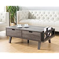 151344CT Smart Home Furniture Distressed Grey Living Room Drawers Coffee Table