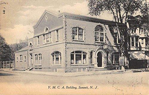 Summit New Jersey YMCA Building Street View Antique Postcard - New Building Ymca