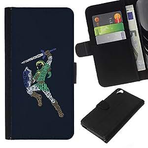 NEECELL GIFT forCITY // Billetera de cuero Caso Cubierta de protección Carcasa / Leather Wallet Case for HTC Desire 820 // Zeld Guerrero Zalda