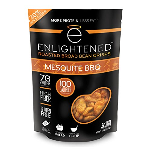 Mesquite Bean - Enlightened Roasted Broad Bean Crisps - Mesquite BBQ 4.5 OZ / Singles