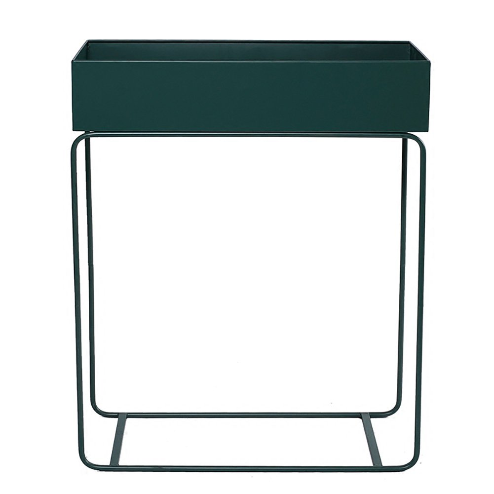 LXLA- コンチネンタルアイアンフラワーポットスタンドバルコニーシングルポットプラントラックフロアスタンディング多層プランターディスプレイシェルフ60×25×74cm (色 : 濃い緑色) B07DB8SKH3  濃い緑色