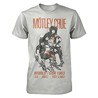 e0d666e8a Amazon.com: Global Motley Crue Vintage World Tour 1983 Graphic T ...