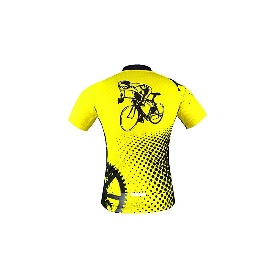 Aogda Cycling Jersey Men Bike Shirts Breathable Short Sleeves Tights Suit Biking Bib Shorts Bicycle Jacket Pants